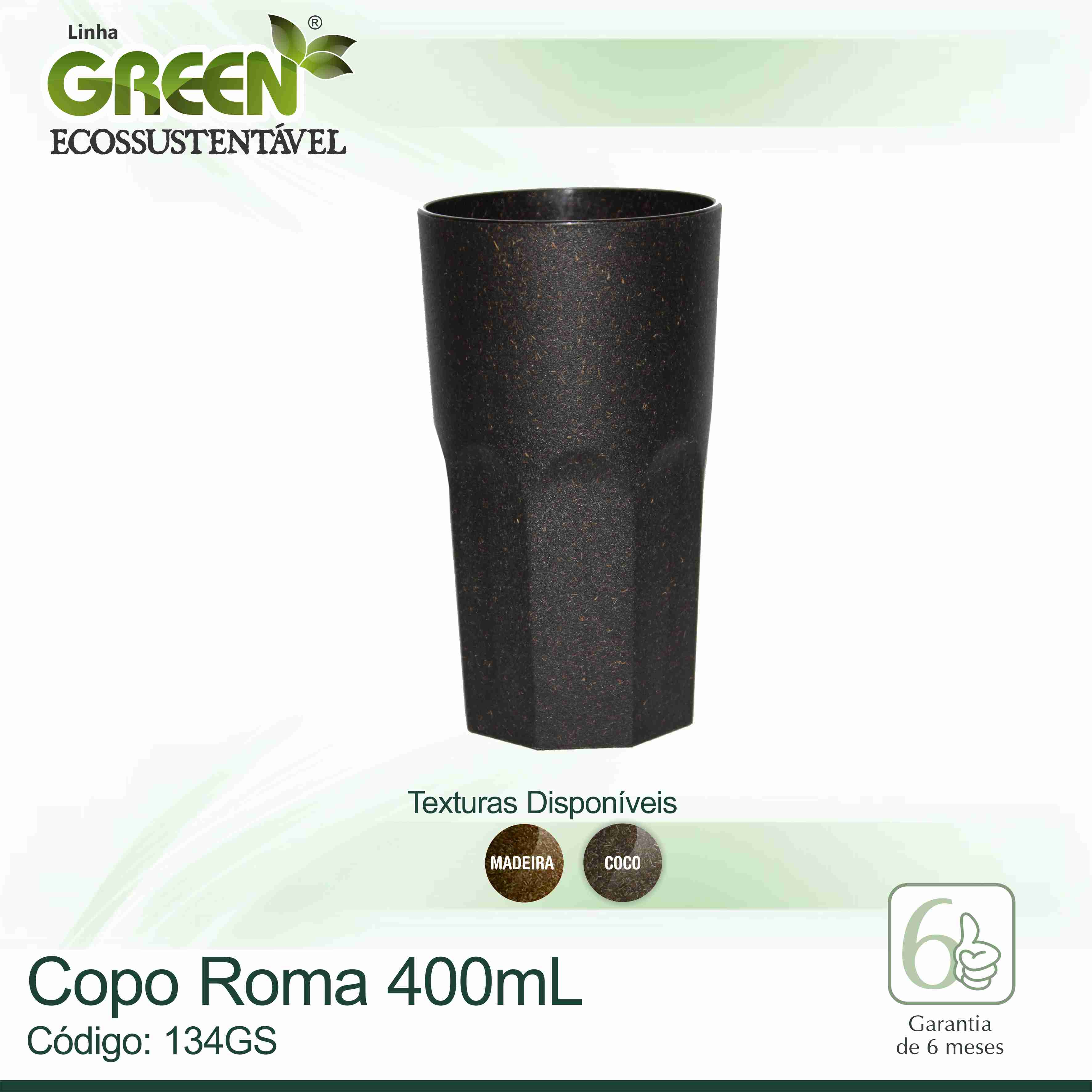 Copo Roma GREEN - 400ml