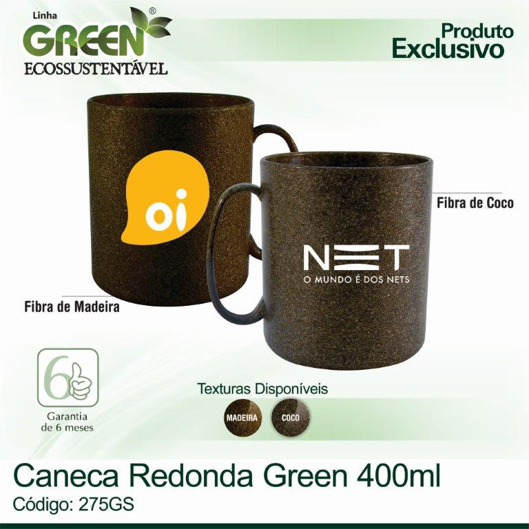 Caneca Redonda GREEN 400ml
