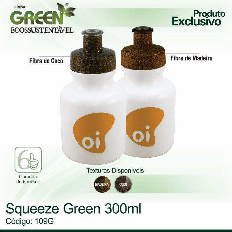 Squeeze Plástico GREEN -  300ml